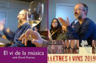 Lletres i vins. El vi de la música.David Puertas